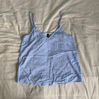 🚚 bnwt hnm pinstriped basic v neck cami