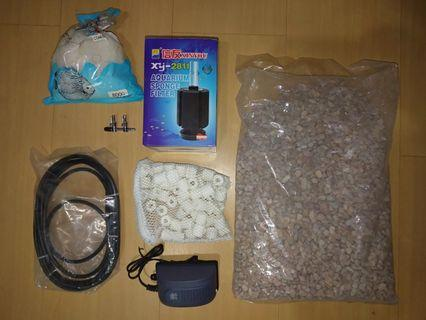 Assorted Aquarium Items