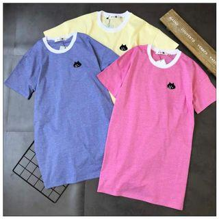 Ne Net T-Shirt貓咪短袖連身裙 長裙 鬆身大碼