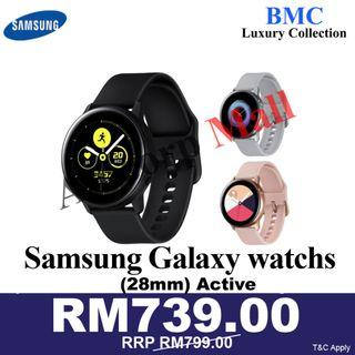 Galaxy Watch Active SM-R500NZDAXME NEW SET READY STOCS