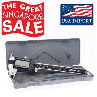 Neiko™ Full S/Steel Electronic Digital Vernier Caliper, LCD Screen Metric/SAE/Fractions [44% DISC]