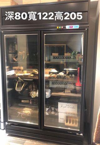全黑色高質感2門玻璃冷藏冰箱1000L