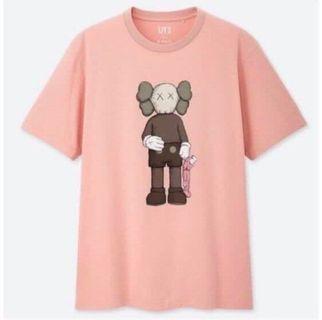 Kaws Uniqlo Tee Shirt Pink L Size