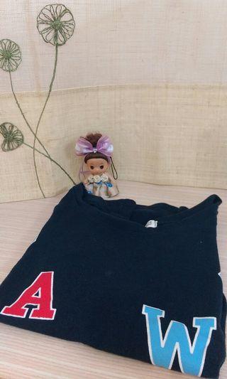 藏青色 T-shirt