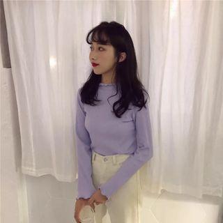 🚚 全新現貨💐紫色內搭長袖T恤貼身上衣