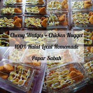 Cheesy Wedges + Chicken Nugget