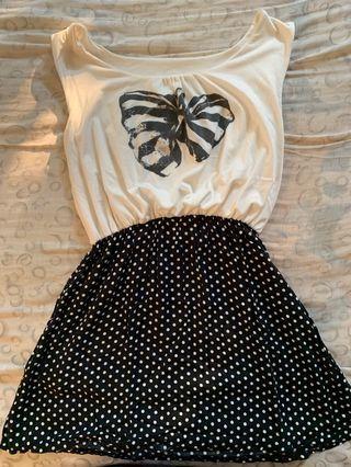 Black Ribbon Cute Dress