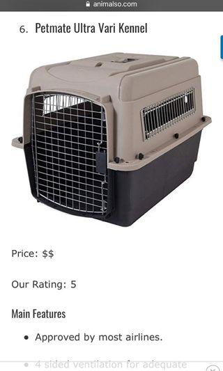 Airline Approval pet crate