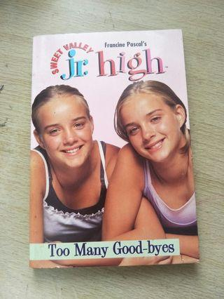 Sweet Valley Jr. High too many good-byes