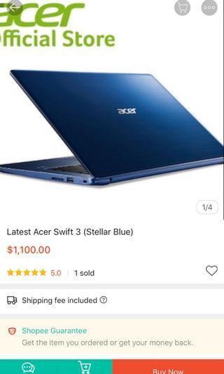 🚚 Acer Swift 3 Notebook