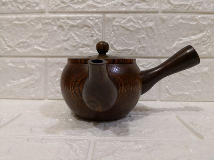 Wooden handle Japanese teapot