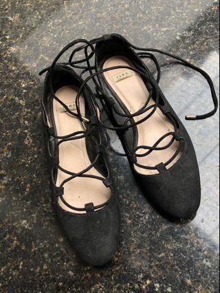 Zara Black Flats