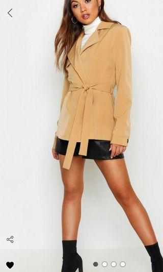 Boohoo Trench Coat - Size 8