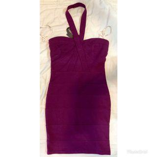 BNWT- Kitschen bodycon purple dress