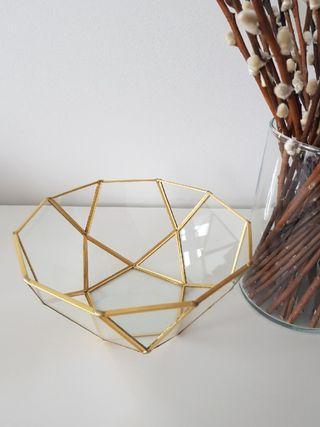 Gold geometric terrarium glass / home decor / ring box