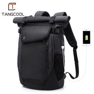 🔥IN STOCK🔥 Black Casual Men Backpack Outdoor Bag Travel  Bag Cool Backpack  #MRTJurongEast #CarousellxCasetify