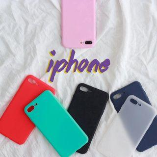#300 basic iphone case silicon sleeve iphone 7, 8, 7+, 8+, X