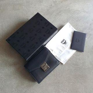 Authenthic MCM Patricia 3 Fold Wallet leather brander mini wallet