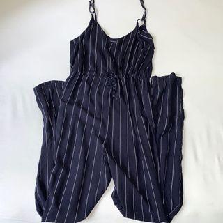 Striped Jumpsuit Navy