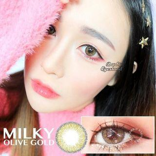 Milky Olive Gold 14.5mm 100/100 Contact Lens #CarousellBetter