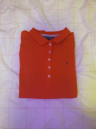 tommy's polo shirt / slim fit CORAL