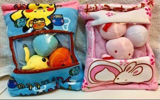 🚚 [新品]寶可夢/兔兔零食抱枕(20cm)兩款一起賣