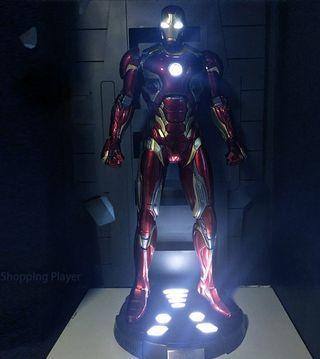 LED Iron Man Mark XLV 45 MK45 Avengers 1/2 figure toy statue Hibreglass resin 108cm