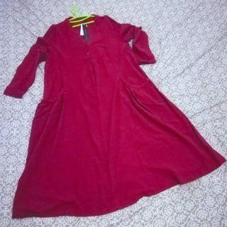 Dress Import Zanzea Maroon Trendy