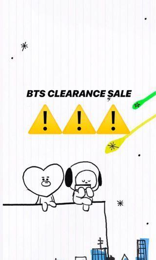 [ QYOP ] BTS CLEARANCE SALE