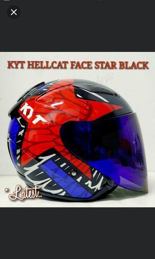 KYT HELLCAT FACE STAR BLACK*PSB APPROVED