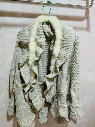 仿兔毛針織衫