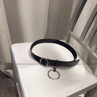 🚚 黑色扣環皮帶