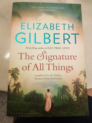 The signature of all things-elizabeth gilbert