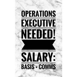 HIRING FULL TIME OPERATIONS EXECUTIVE