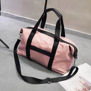 粉紅色旅行袋 兩用袋 運動袋 健身袋
