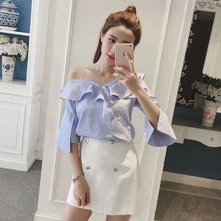 Ready stock off shoulder top