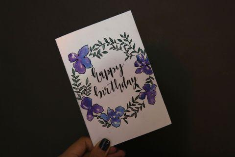 Calligraphy Cards Birthday card