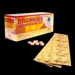 bronkris tablet per box