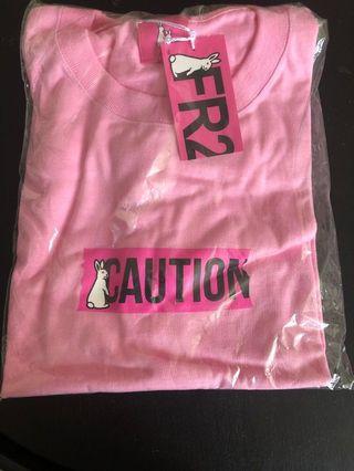 日本購入 FR2 梅 粉紅色 Caution 女裝 短袖 Tee 日本潮牌 Fucking Rabit