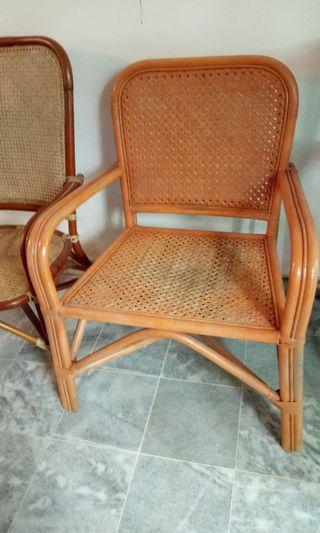Preloved Rattan chair (short, fat)