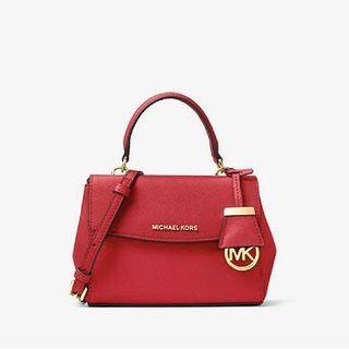 MICHAEL KORS Ava Extra-Small Saffiano Leather Crossbody 紅色