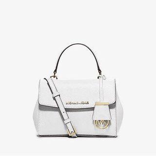 MICHAEL KORS Ava Extra-Small Saffiano Leather Crossbody 白色