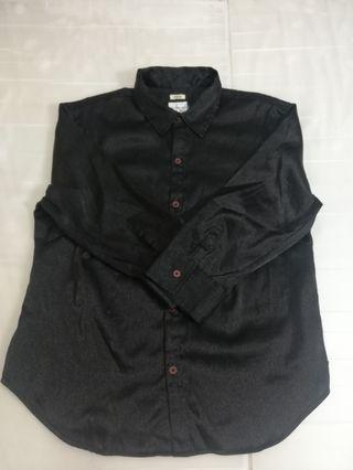 🚚 Ngu 古著 CK黑色素面襯衫 (瑕疵)