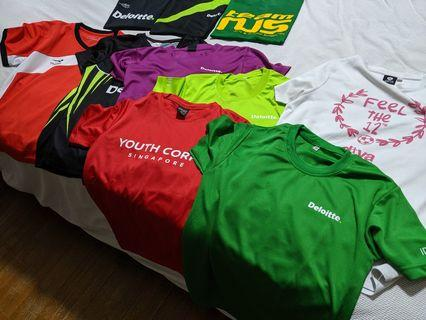 Assorted dry fit sports tees