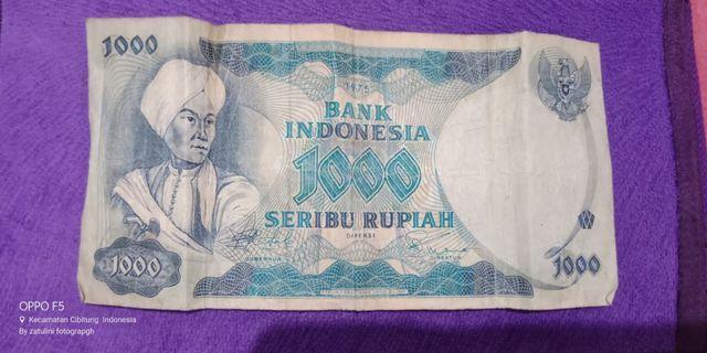 Uang Kertas Lama 1000 1975