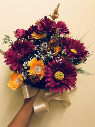 Flower Bouquet / Fresh Flower / Hand Bouquet / Artificial Faux flower / Wedding Floral