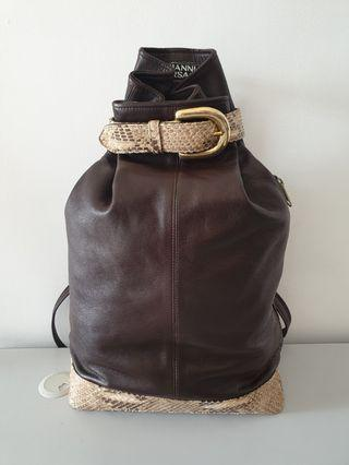 Versace leather and snake skin backpack