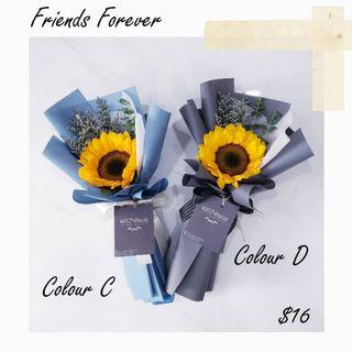 #189 | Single Stalk Sunflower Bouquet | Graduation | Convocation 2019 | Birthday | Anniversary | Corporate Event | Message Card Included | Flower Delivery (FREE for 10 and above)
