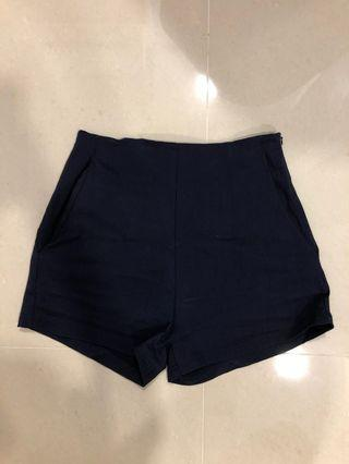 bnwt temt navy blue high waisted shorts