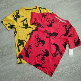 NEW 8Y Yellow Carter's Boy Graphic AOP Short Sleeve T Shirt